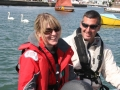 RYA Powerboat training in the Solent steve & nikki 2